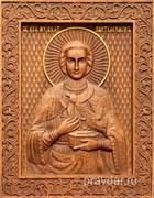 Пантелеймон целитель, резная икона на дубовой цельноламельной доске
