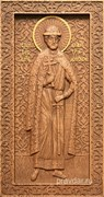 Дмитрий Донской, резная икона на дубовой цельноламельной доске (ростовая)