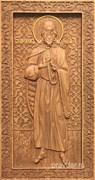 Илия Пророк, резная икона на дубовой цельноламельной доске (ростовая)