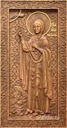 Наталия Святая мученица, резная икона на дубовой цельноламельной доске (ростовая)