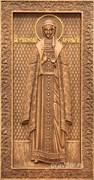 Ольга Святая равноапостольная княгиня, резная икона на дубовой цельноламельной доске (ростовая)