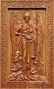 Иоанн Креститель, резная икона на дубовой цельноламельной доске (ростовая)