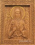 Елисавета Святая княжна, резная икона на дубовой цельноламельной доске