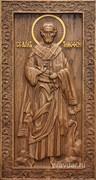 Тимофей Апостол, резная икона на дубовой цельноламельной доске (ростовая)