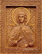 Иулия Святая мученица, резная икона на дубовой цельноламельной доске