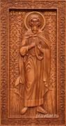 Леонид Святой мученик, резная икона на дубовой цельноламельной доске (ростовая)