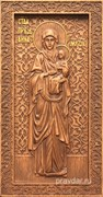 Анна Праведная (Мать Богородицы), резная икона на дубовой цельноламельной доске (ростовая)
