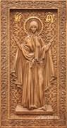 Нерушимая стена Божия Матерь, резная икона на дубовой цельноламельной доске (ростовая)