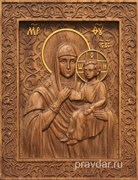 Лидская Божия Матерь, резная икона на дубовой цельноламельной доске