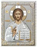 Господь Вседержитель икона в серебряном окладе (Valenti)
