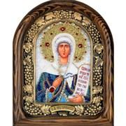 Святая мученица Ника Коринфская, дивеевская икона из бисера