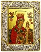 """Образ Божией Матери """"Неувядаемый цвет"""" , икона с серебряной рамкой"""