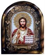 Господь Вседержитель, дивеевская икона из бисера и натуральных камней