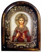 Святая мученица Вероника, дивеевская икона из бисера