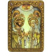 Петр и Феврония икона ручной работы Old Modern 42х29 см