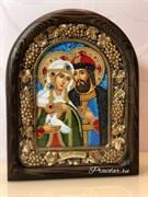 Святые Петр и Феврония, дивеевская икона из бисера ручной работы