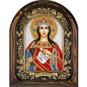Варвара Святая Великомученица, дивеевская икона из бисера