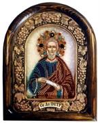 Петр Апостол, дивеевская икона из бисера ручной работы
