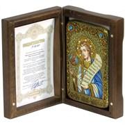 Преподобный Роман Сладкопевец икона ручной работы под старину