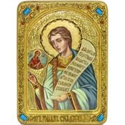 Преподобный Роман Сладкопевец, живописная икона в авторском стиле