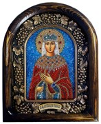 Святая Мученица Александра Римская, дивеевская икона из бисера