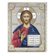 Господь Вседержитель икона с серебряным окладом (Valenti)