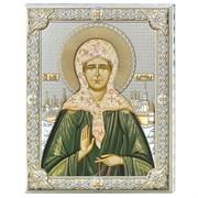 Матрона Московская икона в серебряном окладе (Valenti)