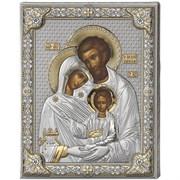 Святое Семейство икона в серебряном окладе (Valenti)