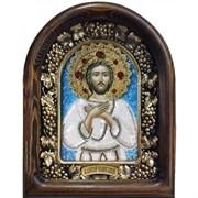 Алексий Преподобный, человек Божий, дивеевская икона из бисера