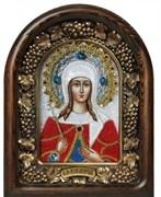 Икона Иулия (Юлия) Анкирская Дева Мученица, дивеевская икона из бисера