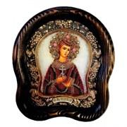 Икона Святая мученица Надежда дивеевская икона из бисера ручной работы