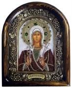 Икона Святая Мученица Виктория Кордубская, дивеевская икона из бисера