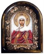 Икона Святая Мученица Галина, дивеевская икона из бисера