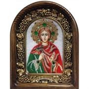 Икона Мученик Валерий Мелитинский, дивеевская икона из бисера ручной работы