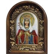 Икона Святая Великомученица Ирина, дивеевская икона из бисера