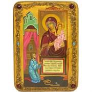 """Образ Пресвятой Богородицы """"Нечаянная Радость""""  живописная икона в авторском стиле"""