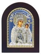 Неувядаемый цвет образ Божией Матери, икона с серебряным окладом