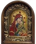 Анна,  мать Пресвятой Богородицы, дивеевская икона из бисера